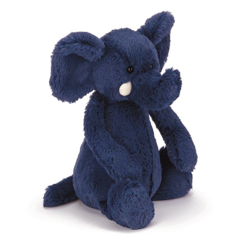 Image of   Jellycat Bashful Blue Elephant Medium