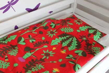 Image of   Bed linen Baby Red Ukrudt