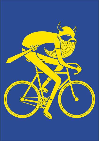 Poster Blue BIKING VIKING