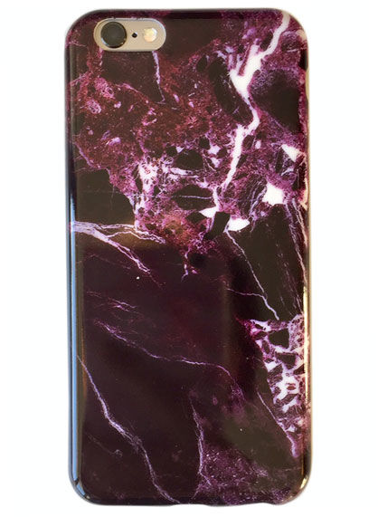 Iphone 6 Plus Cover Burgundy Marble