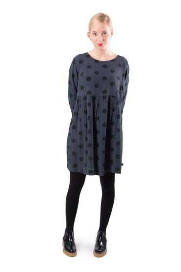 Image of   Blixen dress Dusk/ black dots