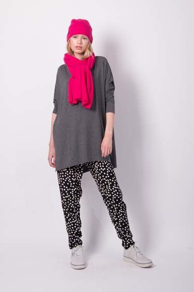 Notte Tunic Dark Heather Grey