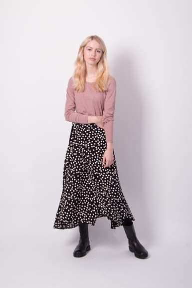 Jasmin Skirt Black/Off White