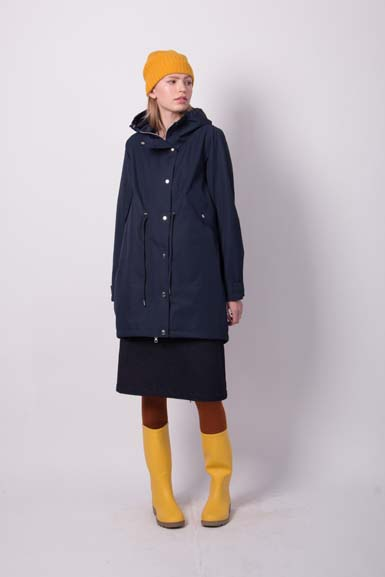 Josefine Winter Rain Parka Navy