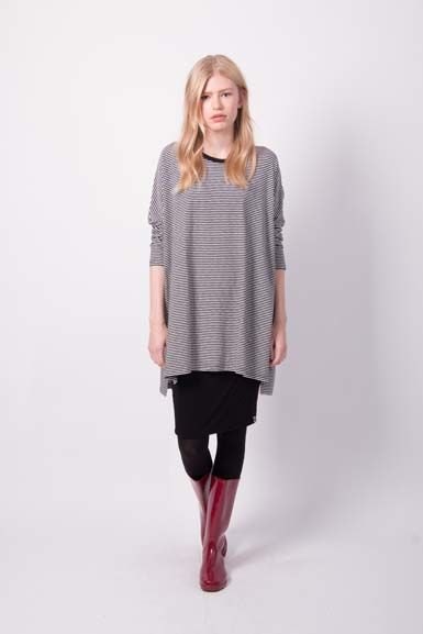 ORGANIC - Flusso tunic Black/Off White
