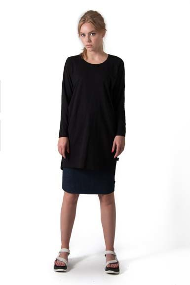ORGANIC - Fiore tunic Black
