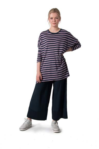 ORGANIC - Flusso tunic Navy/Warm clay