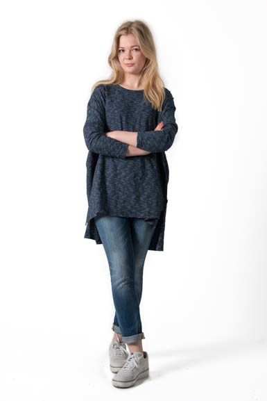 Notte Tunic Navy/Off white