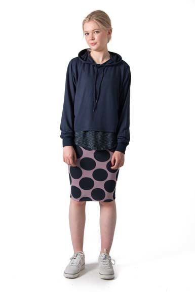 Betsy skirt Navy/Warm clay DOTS