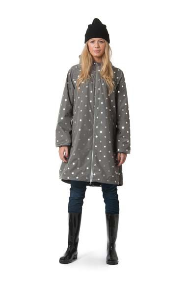 Helen Rainjacket Grey/Silver DOTS
