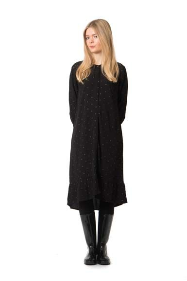 Amore dress Black w.black glitter dots