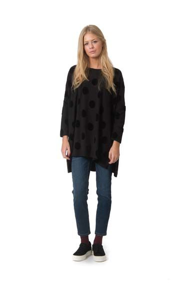 Image of   Notte Tunic Black DOTS