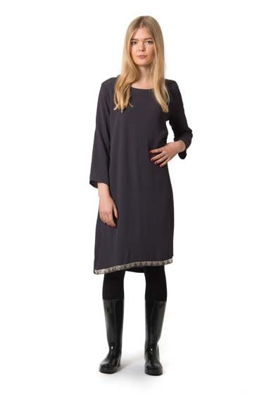 Image of   MamaMia dress Dark Grey w beads