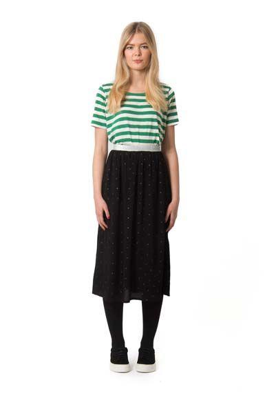 Image of   Ritmo skirt Black w.black glitter dots
