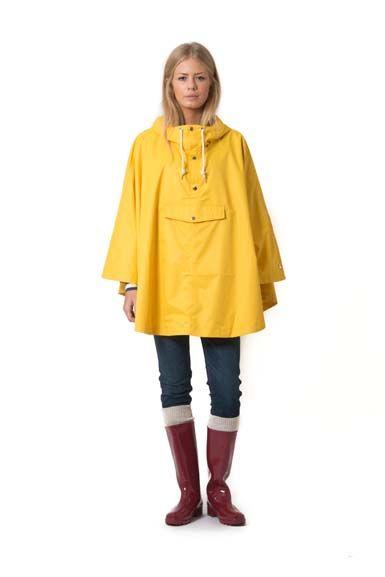 Image of   Eva Poncho Dark Yellow