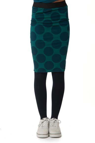 Image of   Betsy skirt Duck/DK Slate DOTS