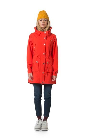 Gritt Rain Parka Lovely Orange