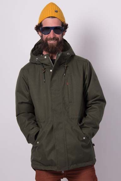 Image of   HoneybearWinter Coat Dark Khaki