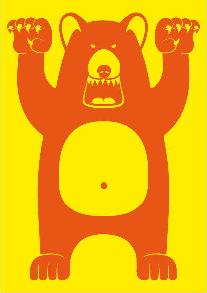 Poster Yellow GRR BEAR