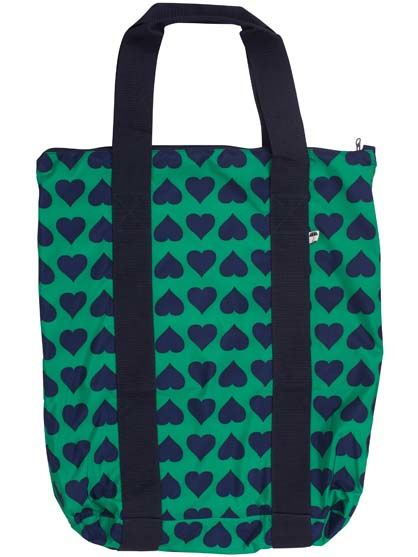 Baglady Shadow Green/Navy HEARTS