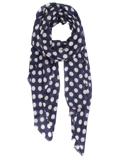 Wrap it up Navy/ Off white dots