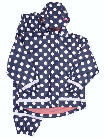 Karl Winter Rain Set Navy/White DOTS