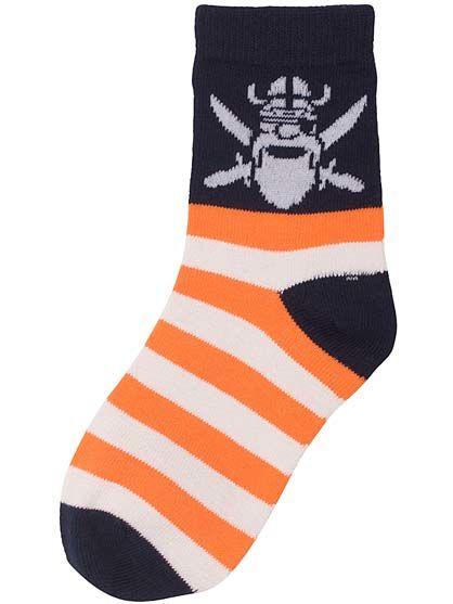 Kids Socks Orange/off white SKIPPER