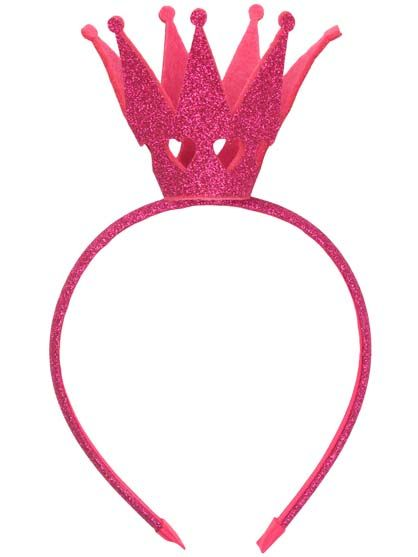 Image of   Headband Hot Pink Glitter CROWN