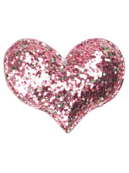 Image of   Hjertespænde Pink Glitter