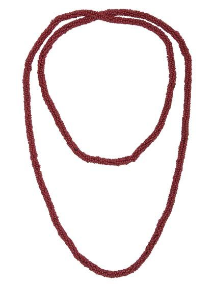 Round necklace Dark Red