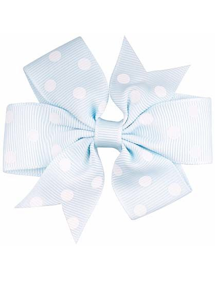 Image of   Hair bow DOTS Lt blue