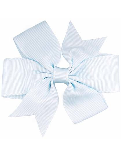 Image of   Hair bow DOUBLE Lt blue