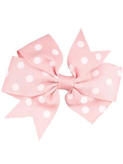 Image of   Hair bow DOTS Rare Pink