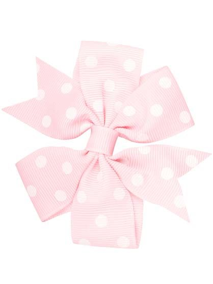 Image of   Hair bow DOTS Milky rose