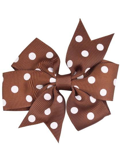 Image of   Hair bow DOTS Brown