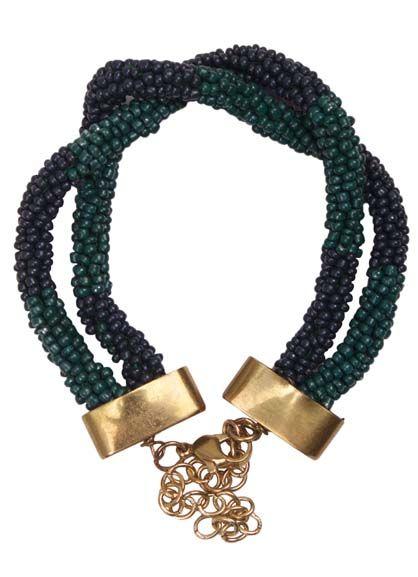 Round Bracelet Dark Slate/ duck