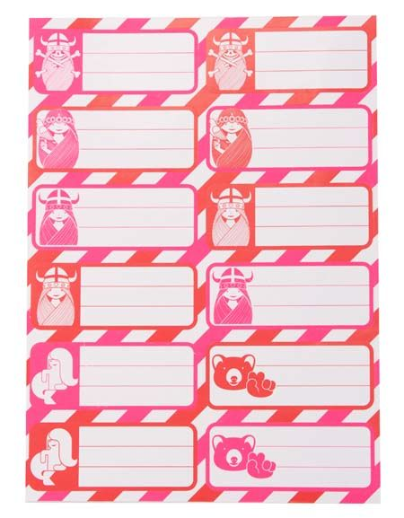 Stickers Red/Pink