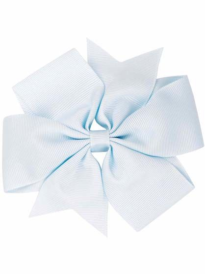 Hair Bow BIG Lt blue