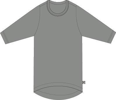 Image of   ORGANIC - Molla 3/4 tunic Htr Grey