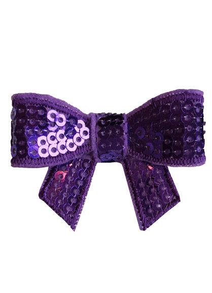 Sequin bow Purple