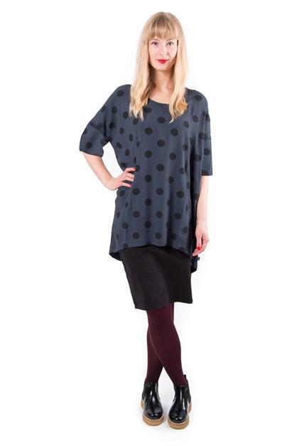 Sorella tunic Dusk/ black dots