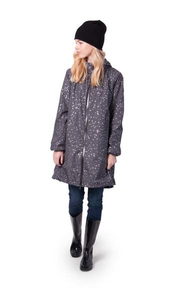 Helen Rainjacket Dark grey/Silver Hrts Confetti