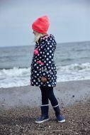 Kirstine Winter Jacket Navy/white DOTS