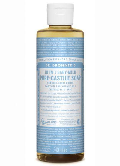 Dr.Bronner's Liquid Soap 240ml Baby Mild