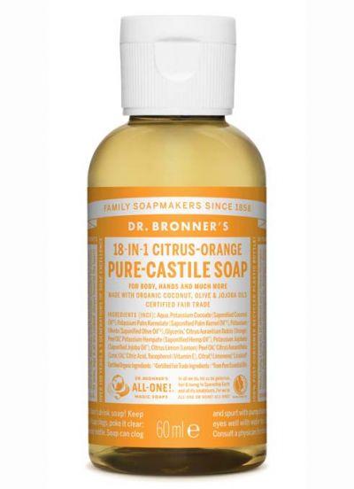 Dr.Bronner's Liquid Soap 60ml Citrus-Orange