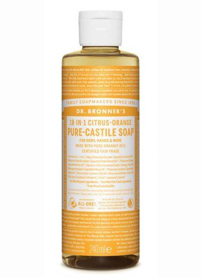 Dr.Bronner's Liquid Soap 240ml Citrus-Orange