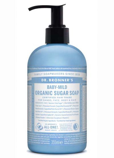Dr.Bronner's Organic Sugar Soap 355ml Baby Mild