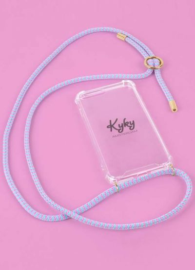 Kyky Iphone X/XS Cover Baby Pink/Blue GOLD