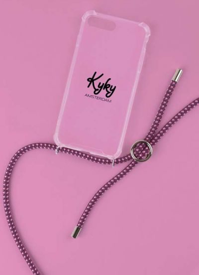 Kyky Iphone X/XS Cover Pink/Purple SILVER