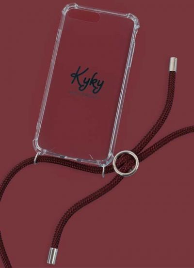 Kyky Iphone 7/8 Cover Aubergenious SILVER